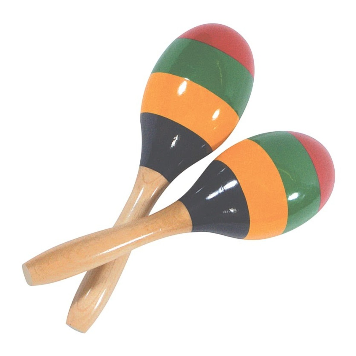 performance percussion striped wood maracas at gear4music