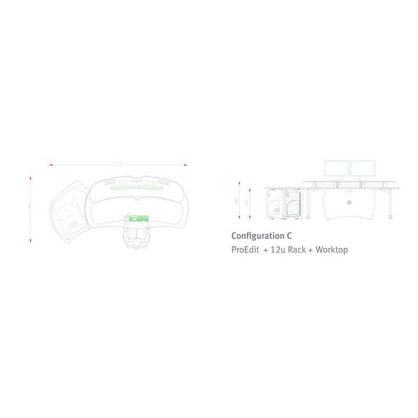 AKA Design ProEdit Studio Desk + 12U Rack, Jointer Kit & LH Worktop 5