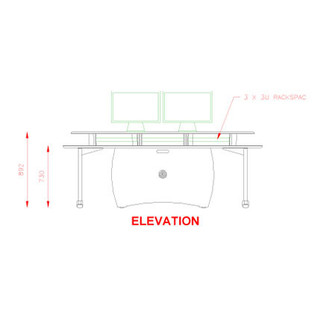 AKA Design ProLite Studio Desk, Maple 3