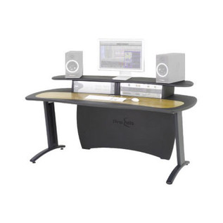 AKA Design ProMedia Desk, Grey and Oak