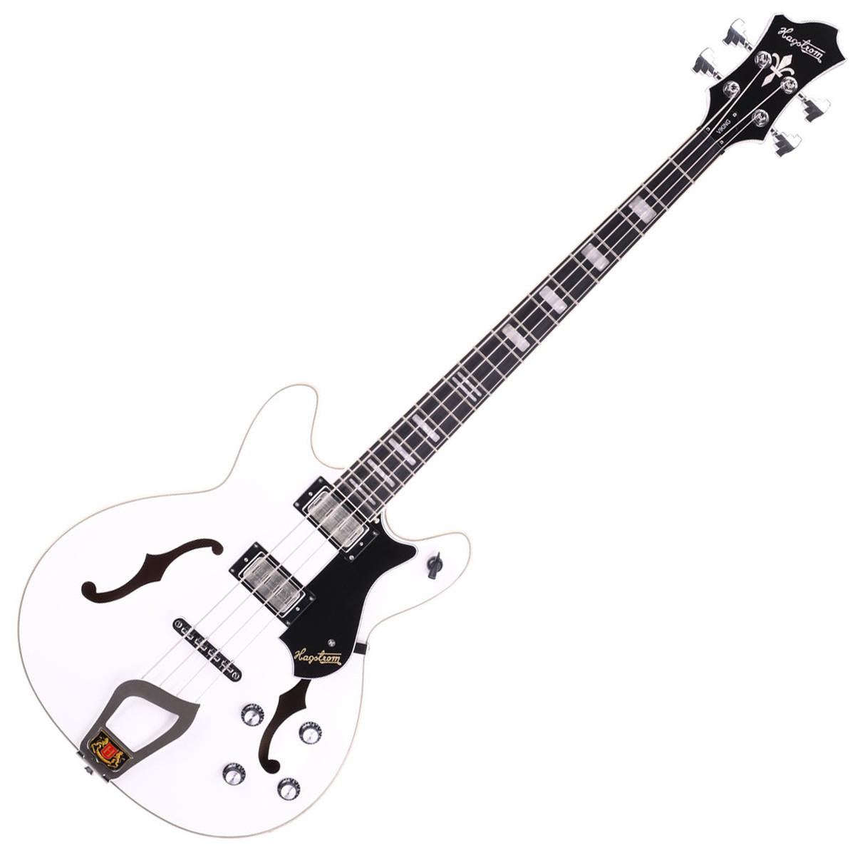 hagstrom viking bass short scale guitar  white at gear4music