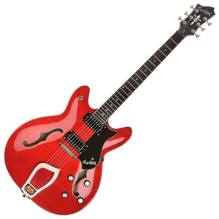 Hagstrom Viking Semi-Hollow Guitar, Wild Cherry Transparent