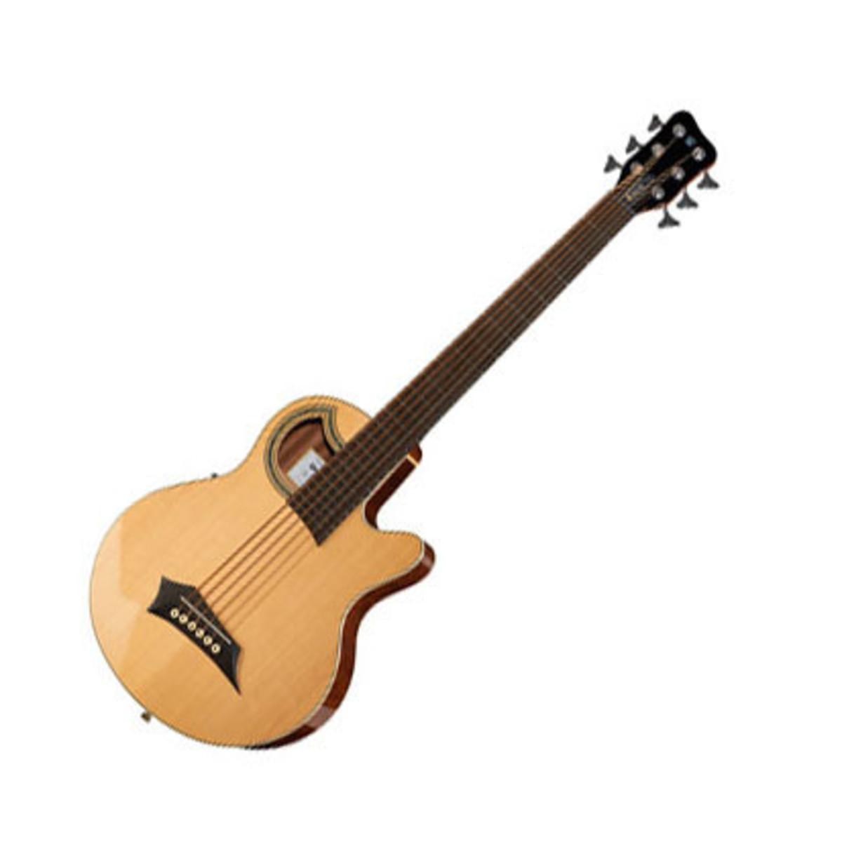 Warwick Alien Standard 6 String Acoustic Bass Natural Loading Zoom
