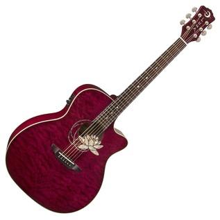 Luna Flora Lotus Electro Acoustic Guitar Front View