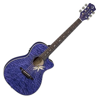 Luna Flora Passionflower Electro Acoustic Guitar Front View