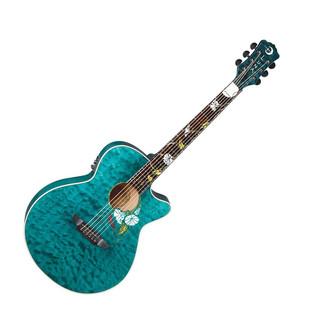 Luna Flora Moonflower Custom Electro Acoustic Guitar