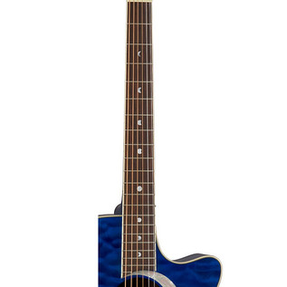 Luna Fauna Eclipse Grand Concert Electro Acoustic Guitar, Trans Blue