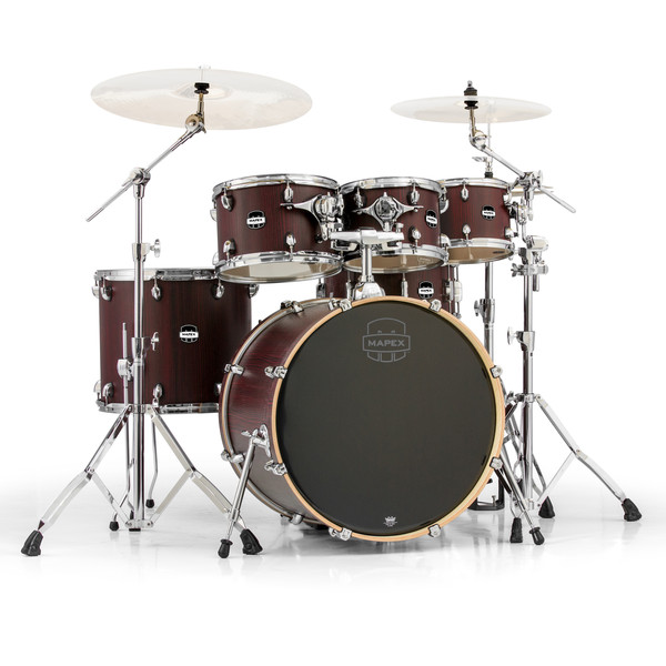 Mapex Mars 22'' Special Edition Rock 6 Piece Drum Kit, Bloodwood