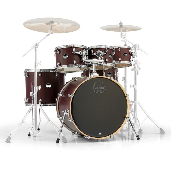 Mapex Mars 22'' Special Edition Rock 6 Piece Shell Pack, Bloodwood