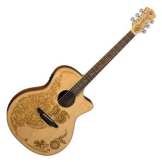 Luna Henna Oasis Electro Acoustic Guitar, Spruce