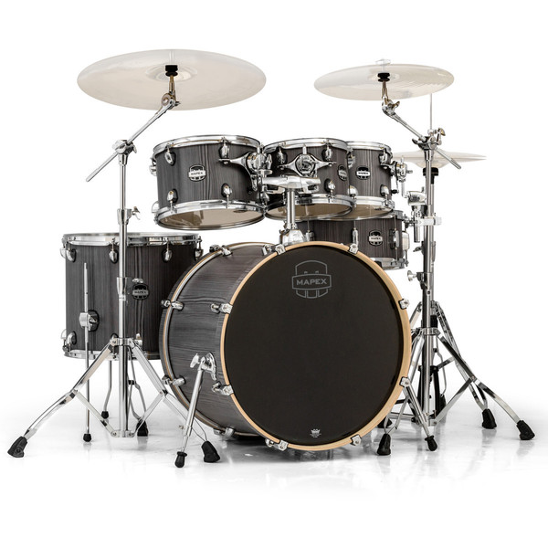 Mapex Mars 22'' Special Edition Rock 6 Piece Drum Kit, Smokewood