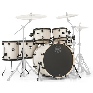 Mapex Mars 22'' Special Edition Fusion 6 Piece Shell Pack, Bonewood