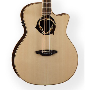 Luna Oracle Dolphin Folk Electro Acoustic Guitar
