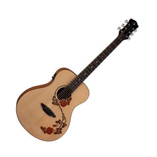 Luna Oracle Rose Folk Electro Acoustic Guitar