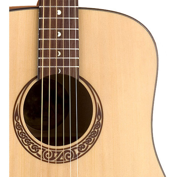 Luna Gypsy Muse Dreadnought Acoustic Guitar + Hard Shell Case