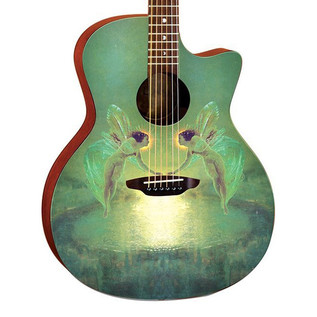 Luna Gypsy Spirit of the Night Acoustic Guitar