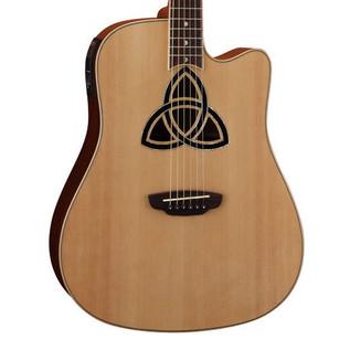 Luna Trinity Dreadnought Cutaway Electro Acoustic Guitar