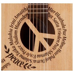 Luna Safari Peace Travel Guitar + Gigbag