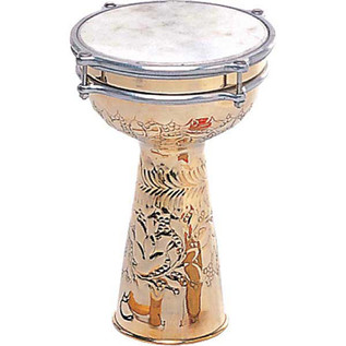 Percussion Plus Brass Embossed 8'' Doumbek