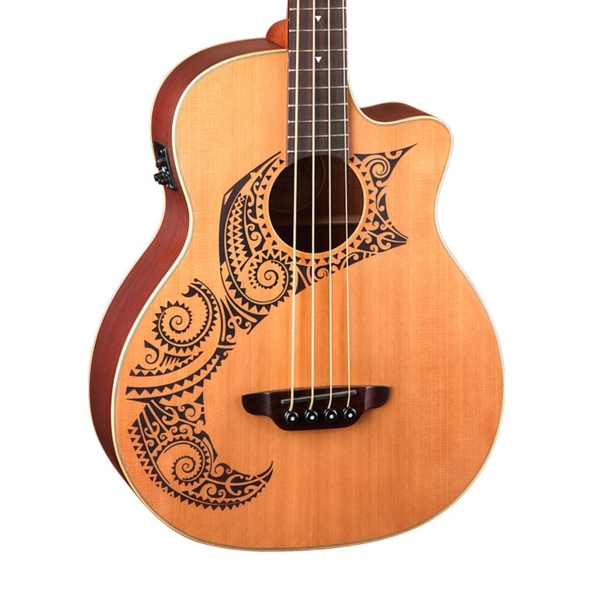 Disc Luna Tattoo Electro Acoustic Bass Cedar Gear4music