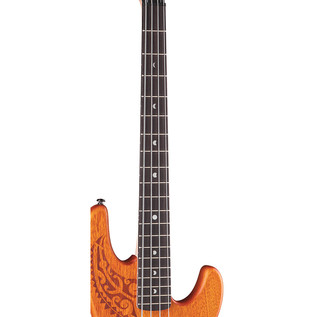 Luna Tattoo Electric Bass Guitar, 30 inch scale