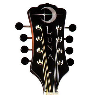 Luna Trinity F-Style Mandolin, Celtic Inlay