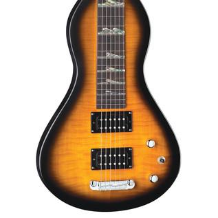 Luna Hawaiian Electric Lap Steel Guitar, Mahogany Weissenborn