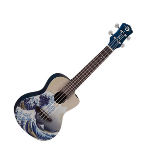 Luna Great Wave Concert Ukulele + Gig Bag