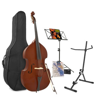 Student 3/4 Double Bass + Accessory Pack by Gear4music