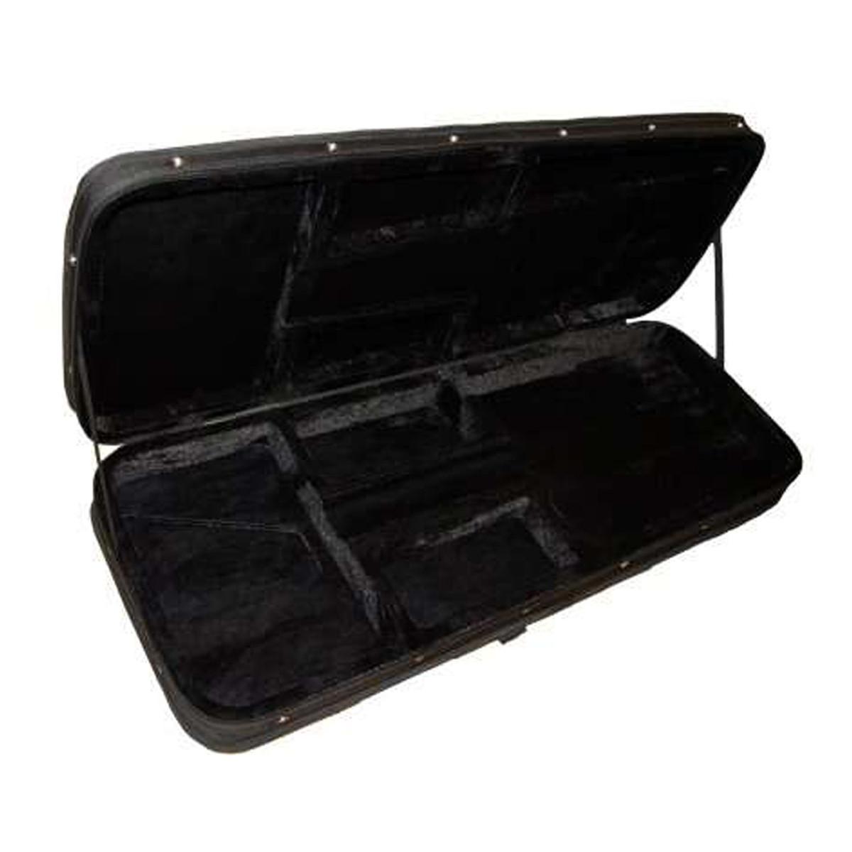 kinsman hard foam electric guitar case black at gear4music. Black Bedroom Furniture Sets. Home Design Ideas