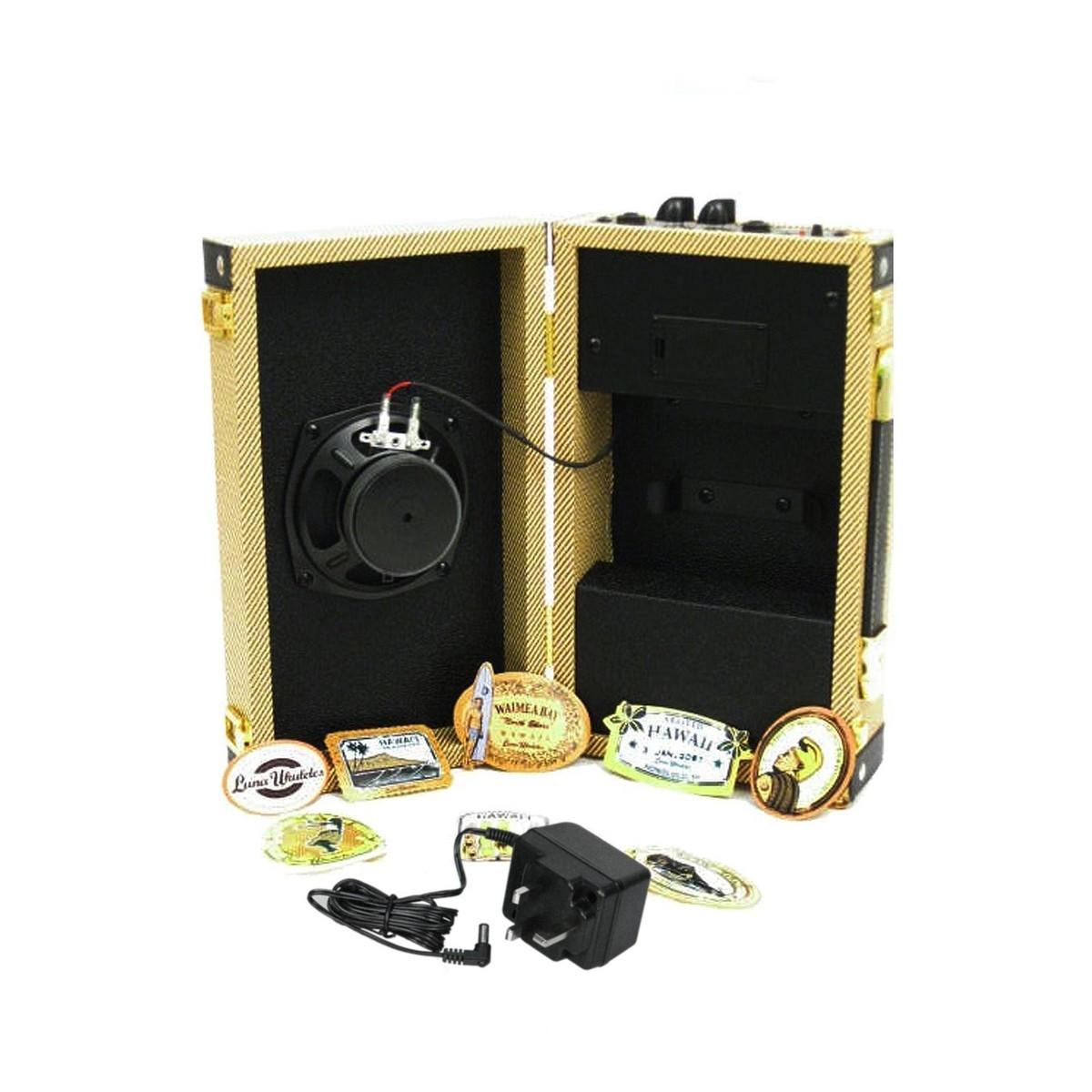 luna ukulele suitcase amp at gear4music. Black Bedroom Furniture Sets. Home Design Ideas