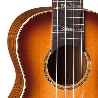 Luna Baritone Electro Acoustic Ukulele Bass, High Tide Tobacco Burst