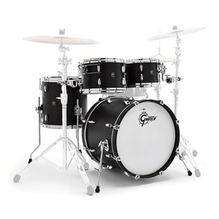 Gretsch Drums Renown Maple 20'' 4 Pc Groove Shell Pack, Satin Black