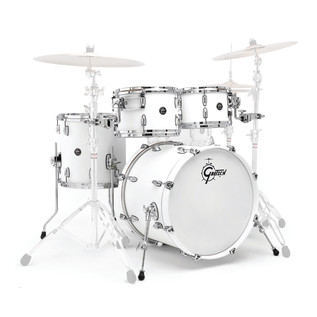 Gretsch Drums Renown Maple 20'' 4 Pc Groove Shell Pack, Satin White