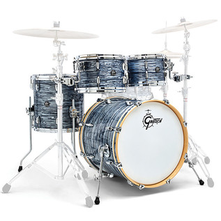 Gretsch Drums Renown Maple 20'' 4 Pc Groove Shells, Silver Oyster
