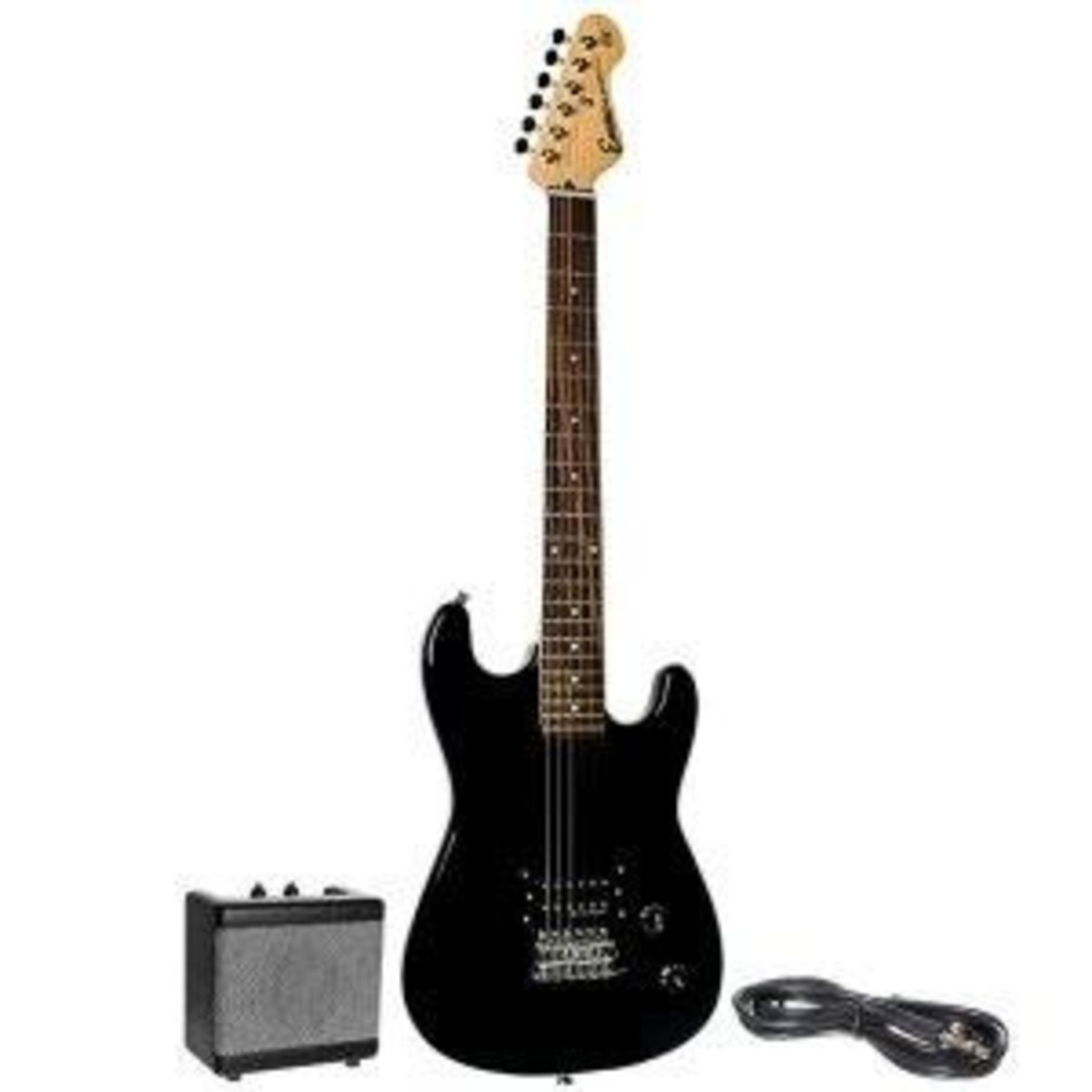 CD Encore E5 Electric Gitarre Pack, schwarz bei Gear4music