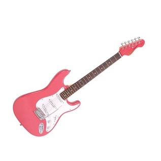 Encore E6 Electric Guitar, Pink
