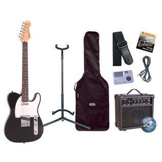 Encore Electric Guitar Outfit, Gloss Black