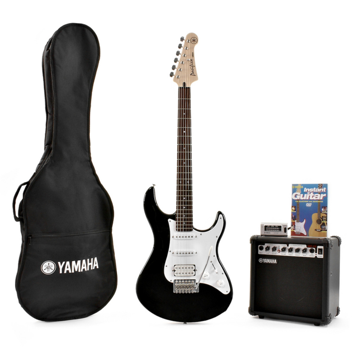 pack guitare lectrique yamaha pacifica 012 noir comme. Black Bedroom Furniture Sets. Home Design Ideas