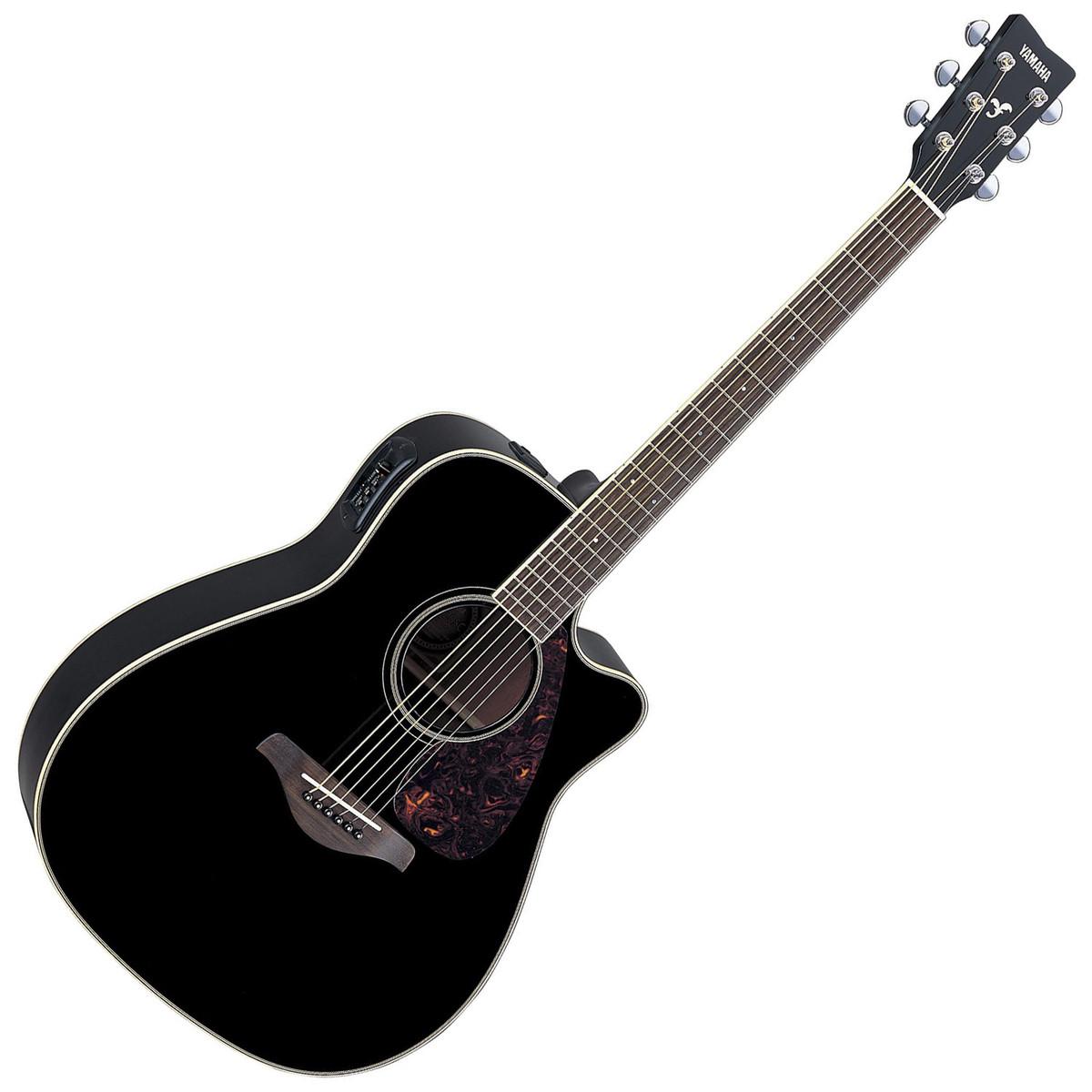 yamaha fgx720sca guitare electro acoustique noire housse offerte. Black Bedroom Furniture Sets. Home Design Ideas