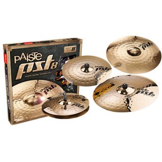 Paiste PST 8 Universal Cymbal Set + Extra 18'' Medium Crash Cymbal