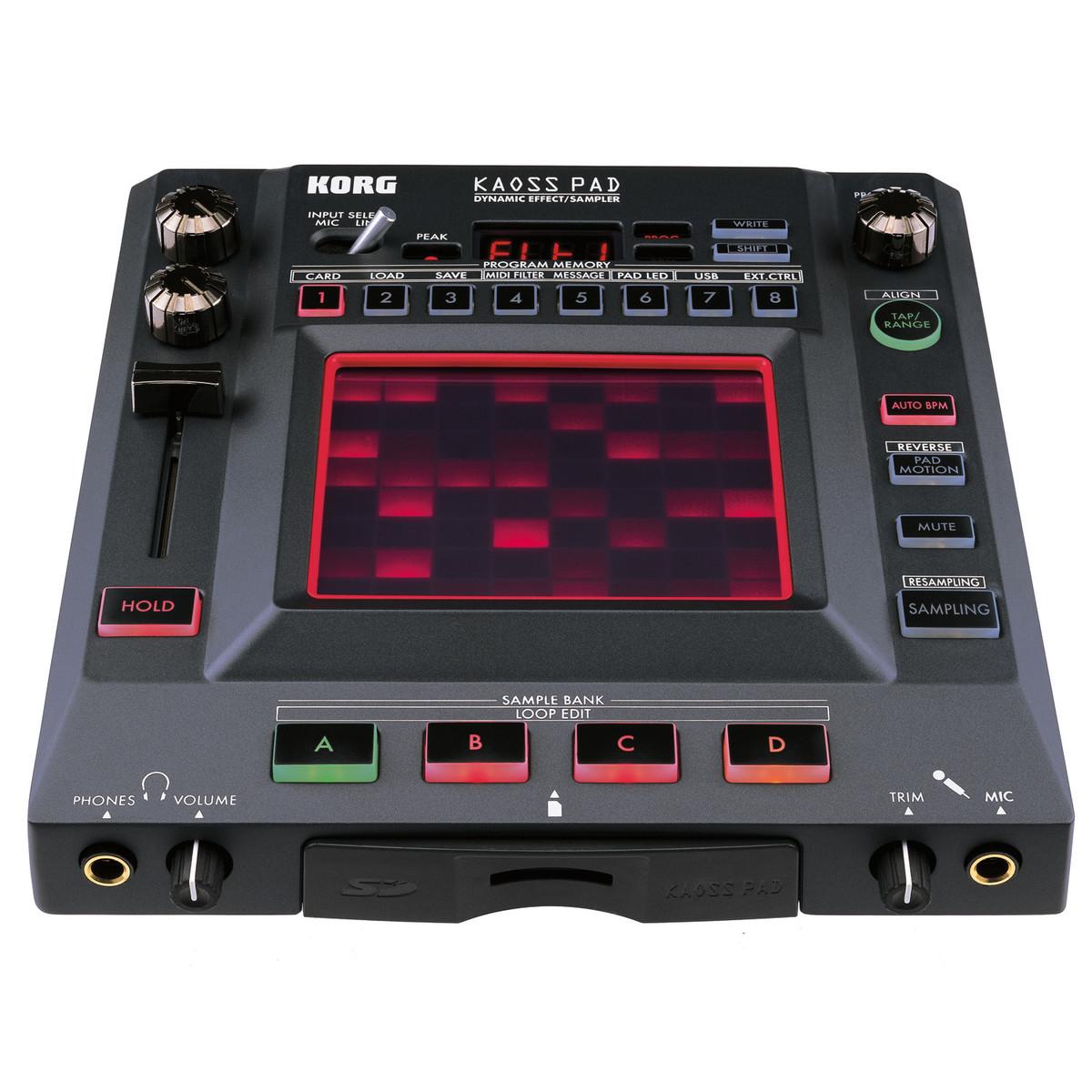 korg kaoss pad kp3 dynamic effects sampler at gear4music
