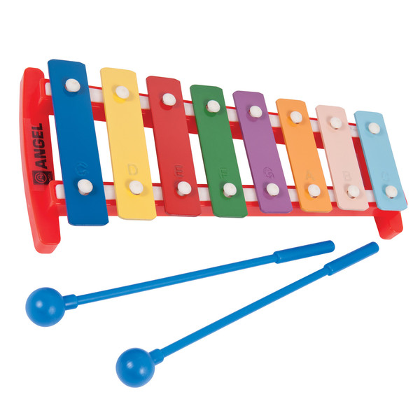 Angel APG-8p C3-C4 8 Note Diatonic Glockenspiel, Coloured Keys