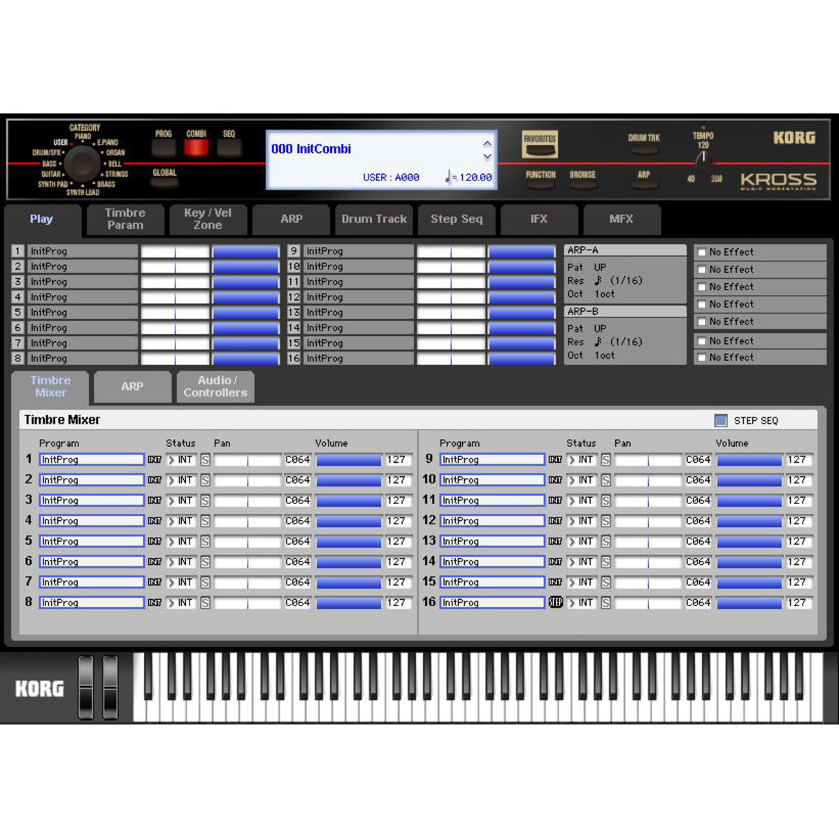 Korg KROME-73 73 Key Music Workstation