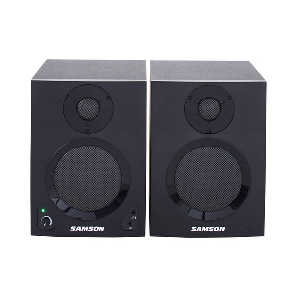 Samson MediaOne BT4 Active Studio Monitors with Bluetooth, Pair, Front