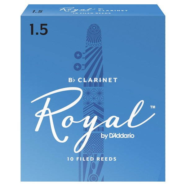 Royal by D'Addario Bb Clarinet Reeds 1.5 Strength, Pack of 10