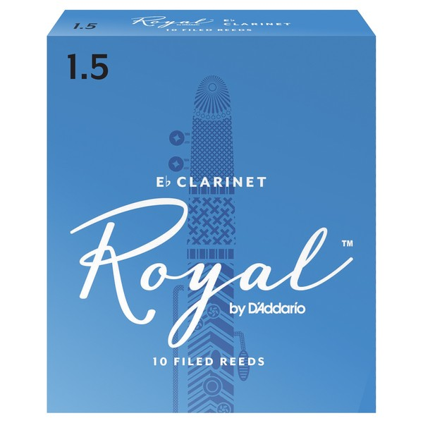 Royal by D'Addario Eb Clarinet Reeds 1.5 Strength, Pack of 10