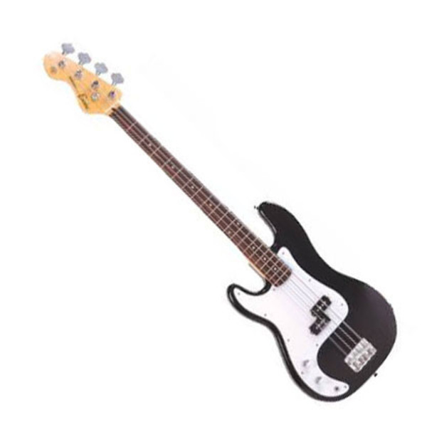 Encore E4 Left Hand Blaster Bass Guitar, Black