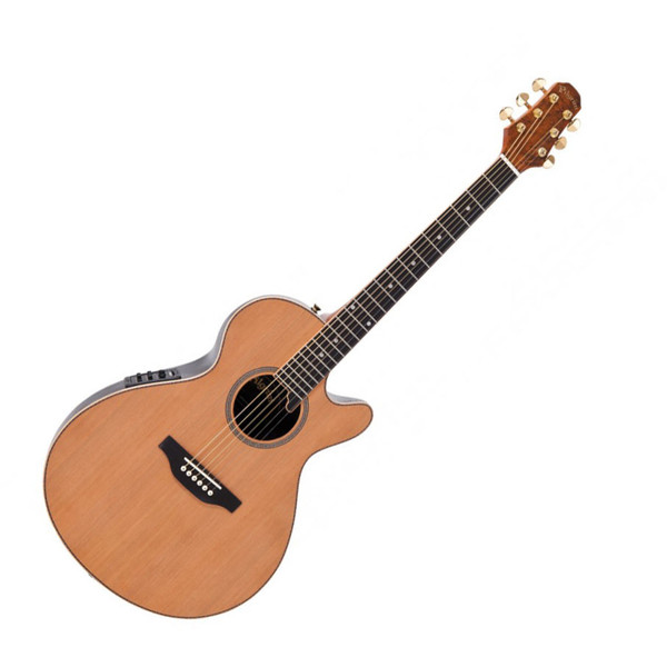 Pilgrim Mayflower Deluxe Electro Guitar with Bag, Natural