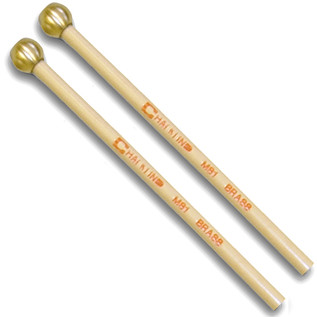Chalklin MS1 Birch Glockenspiel Beaters, Brass
